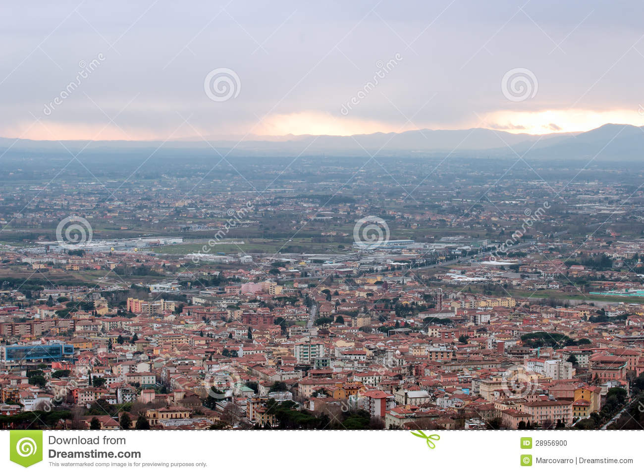 Montecatini Terme, Tuscan Spa Town, Italy Stock Photo.