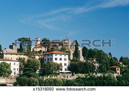 Stock Photo of Italy, Tuscany, Montecatini Alto, Townscape.