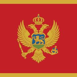Montenegro flag clipart.