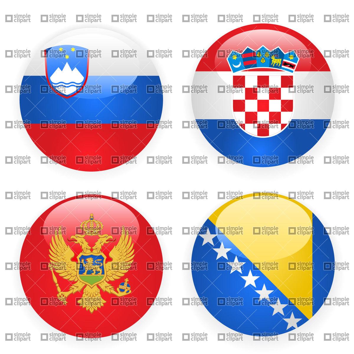Slovenia, Montenegro, Croatia and Bosnia and Herzegovina button.