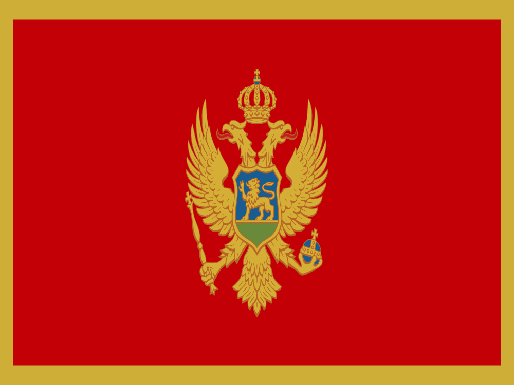 Montenegro Flag Full Page Clip Art Download.