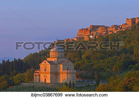 "Stock Photograph of ""Madonna di San Biagio church, Montepulciano."