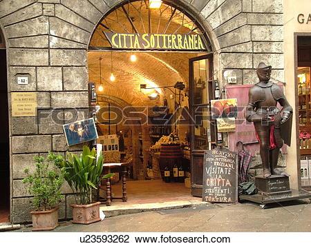 Stock Photo of Tuscany, Italy, Montepulciano, Toscana, Europe.