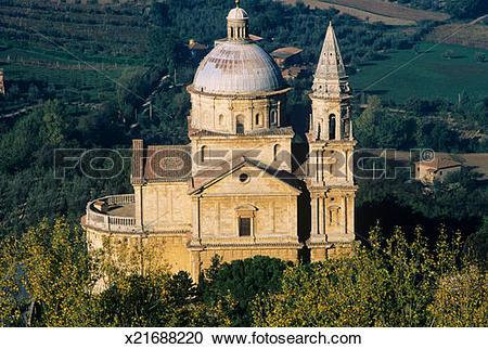Stock Photography of Italy,Tuscany, Montepulciano, Madonna di San.
