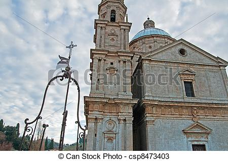 Stock Photos of Montepulciano Church of St. Blaise.