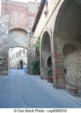 Stock Photography of Montepulciano, Italy.