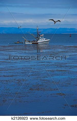 Stock Photo of Commercial Fishing Boat in Monterey Bay k2126923.