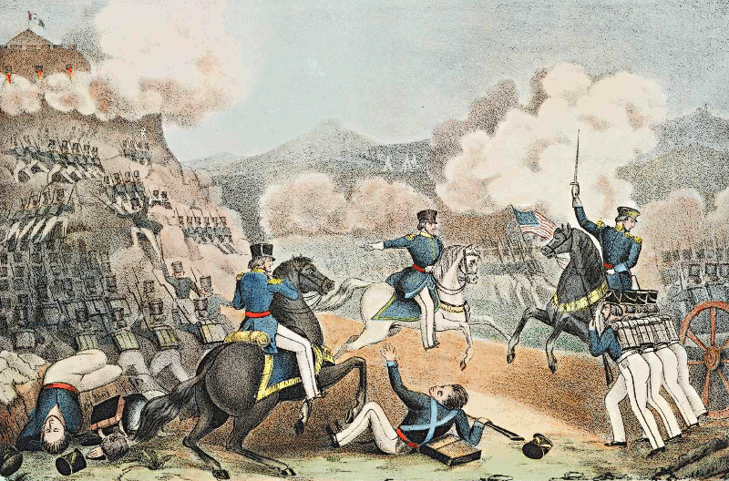 Storming Of Palace Hill At The Battle Of Monterey Clip Art Download.