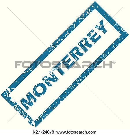Clip Art of Monterrey rubber stamp k27724078.