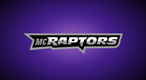Mascot and logo designs for the Montgomery College Raptors.