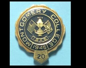 Details about Montgomery College 20 year Tie tack,Service pin.
