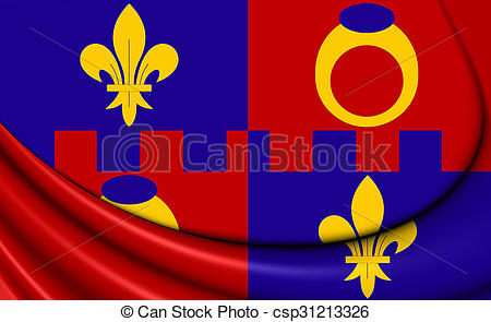 Clip Art of Flag of Montgomery County, Maryland..