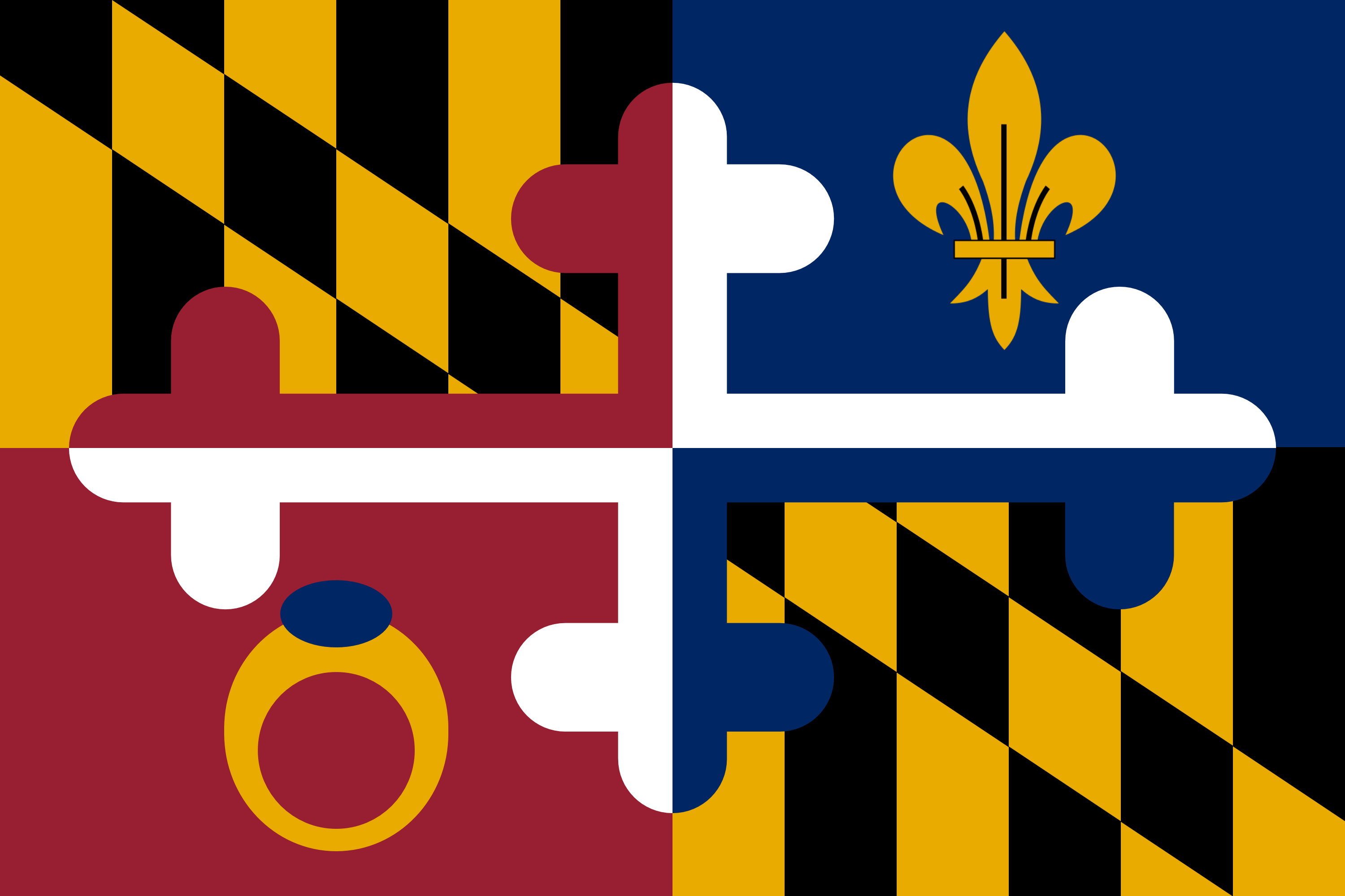 Made a mashup of my two favorite flags (Montgomery County.