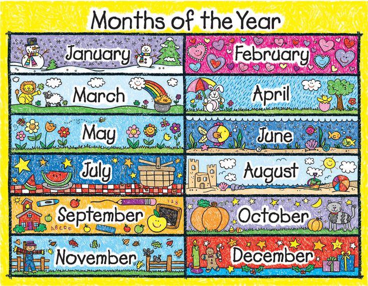 Calendar month clipart.