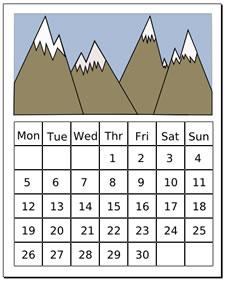 Month Clip Art Free.
