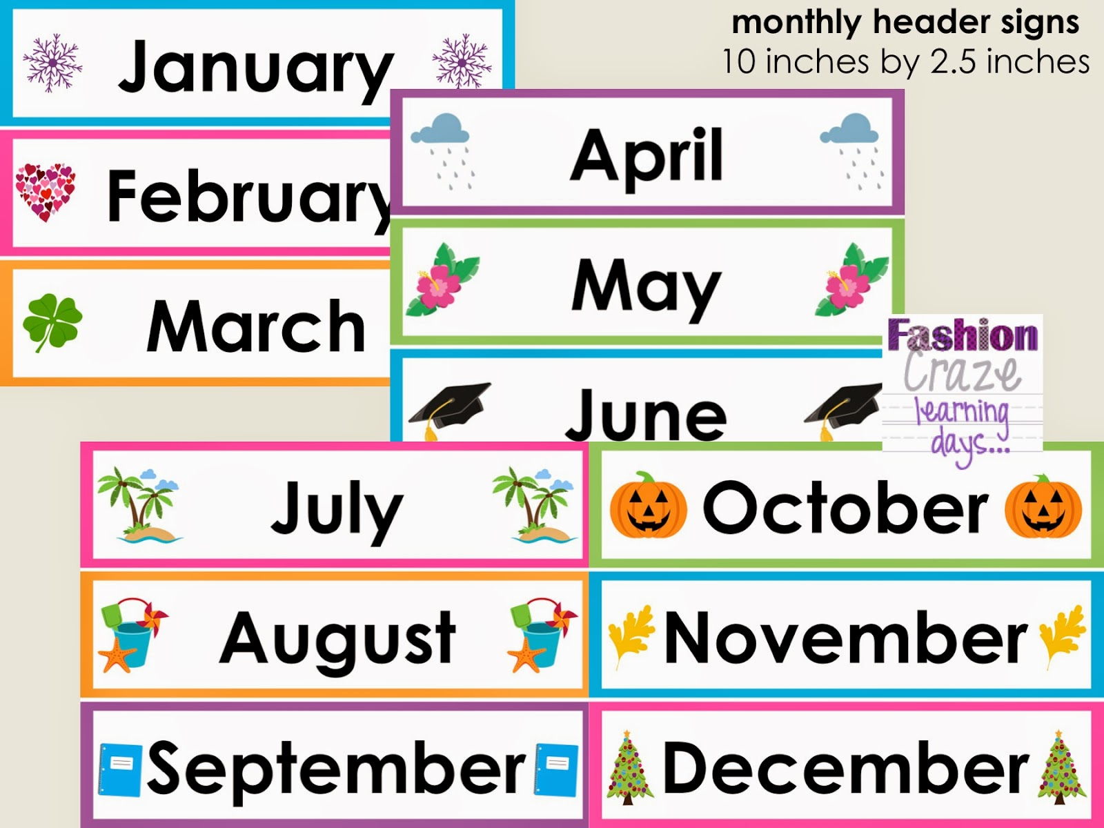 Month Clipart.