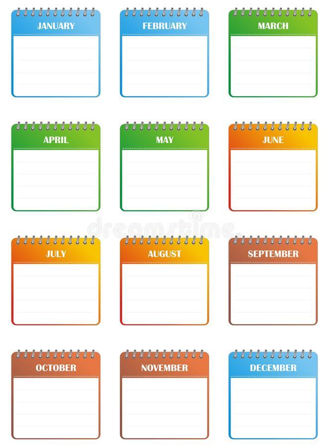Calendar Clipart Stock Illustrations.