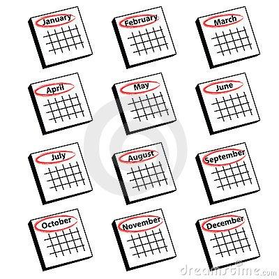 Monthly calendar clipart 3 » Clipart Portal.