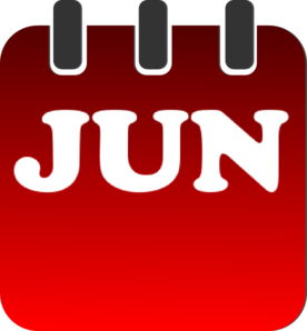Monthly calendar clipart june.