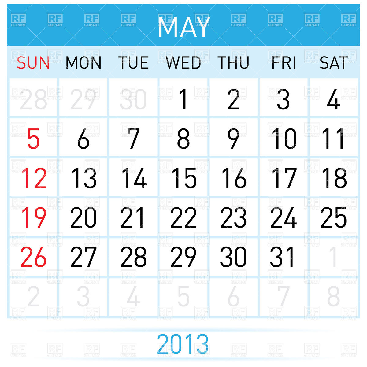 Calendar may background clipart.