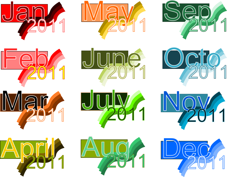 Monthly Clipart.