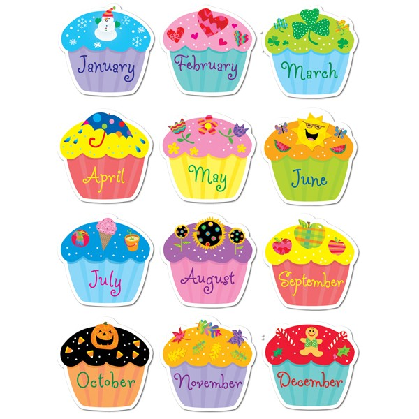 monthly cupcake clipart #10