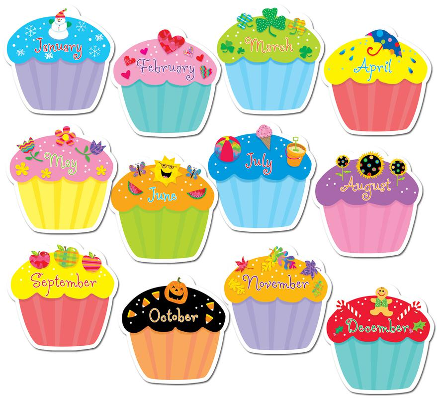 monthly cupcake clipart #14