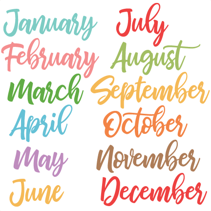 Download Free png Months of the Year svg cuts scrapbook cut.