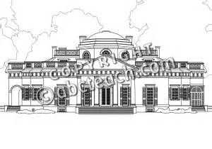 Monticello Clip Art Coloring Page Coloring Pages.