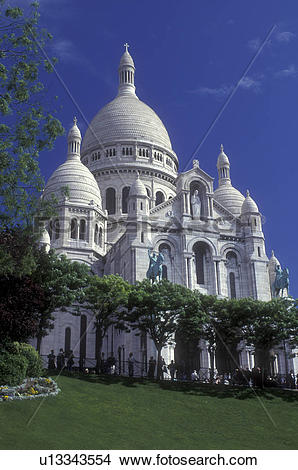 Stock Photo of Paris, France, Sacre Coeur, Europe, Montmartre, The.