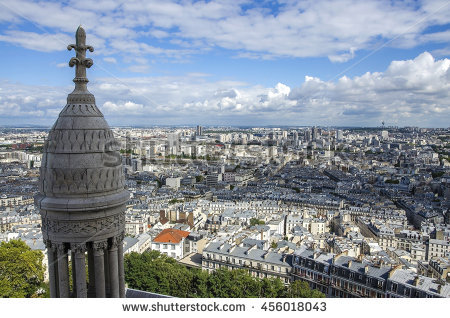 View Paris Sacre Coeur Montmartre Hill Stock Photo 166726634.