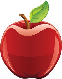 Green PNG apple image.