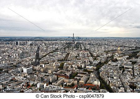 Stock Photographs of France, Paris: nice aerial city view of.