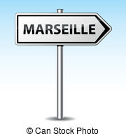 Vector of Vector montpellier directional sign.