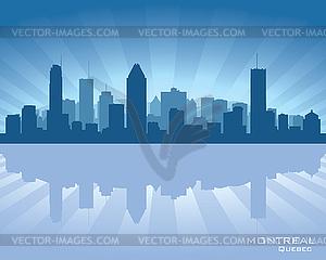 Montreal skyline clipart.