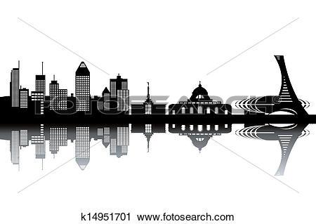 Clipart of Montreal skyline k14951701.