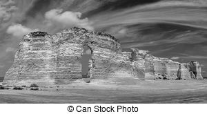 Stock Images of Monument Rocks in Kansas.