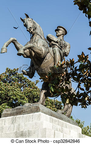 Stock Photo of Statue of Honor Dedicated to the Landing of Ataturk.