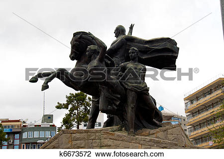 Stock Photo of Ataturk, the founder of the Turkish Republic has.