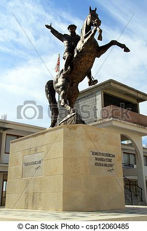 Pictures of Ataturk and horse.