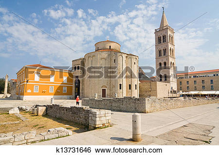 Stock Images of Church of st. Donat, a monumental building from.