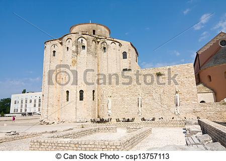 Stock Photography of Church of st. Donat, a monumental building.