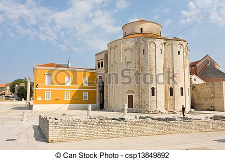 Stock Photographs of Church of st. Donat, a monumental building.