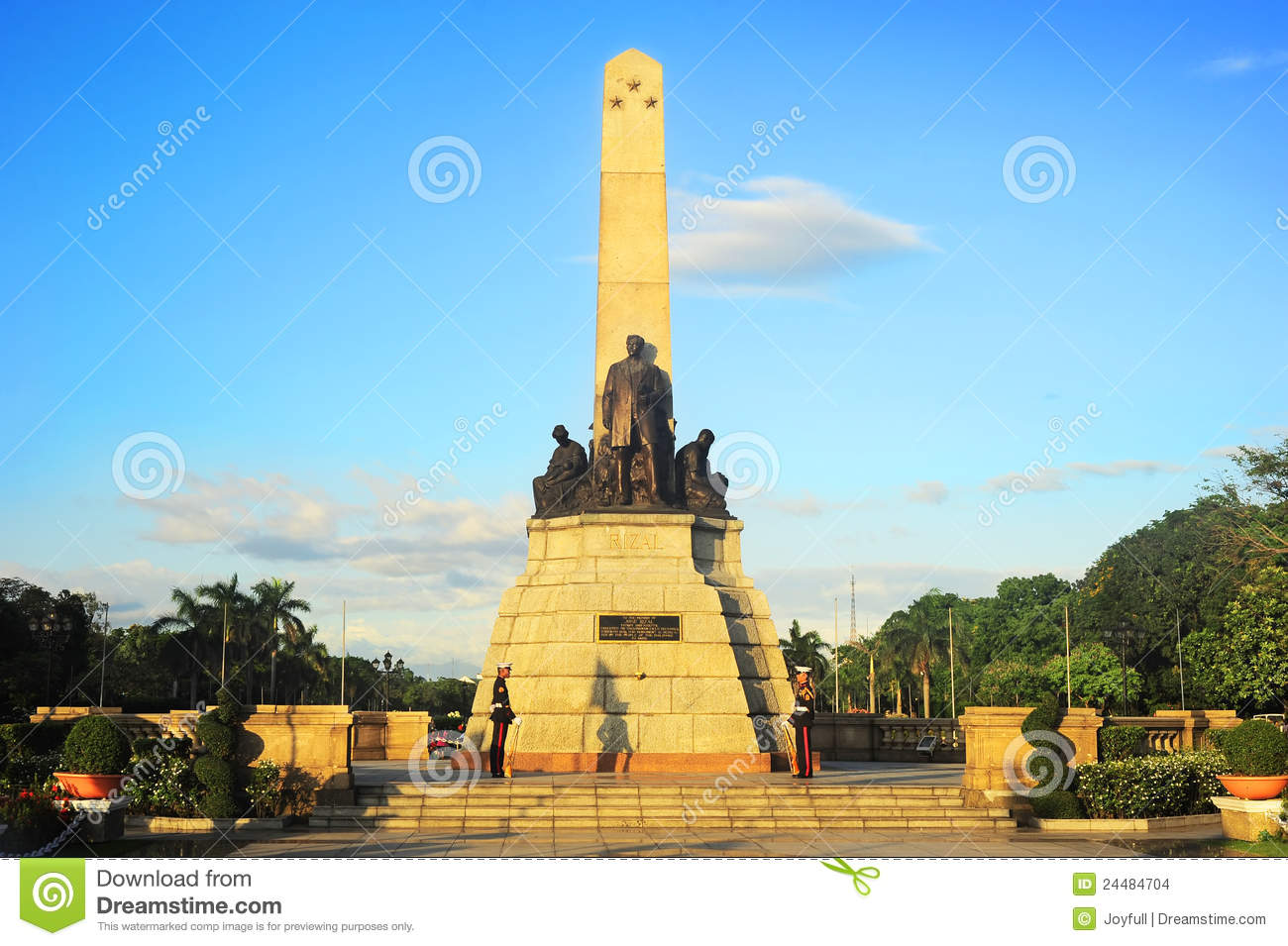 Rizal Monument Clipart Black And White.