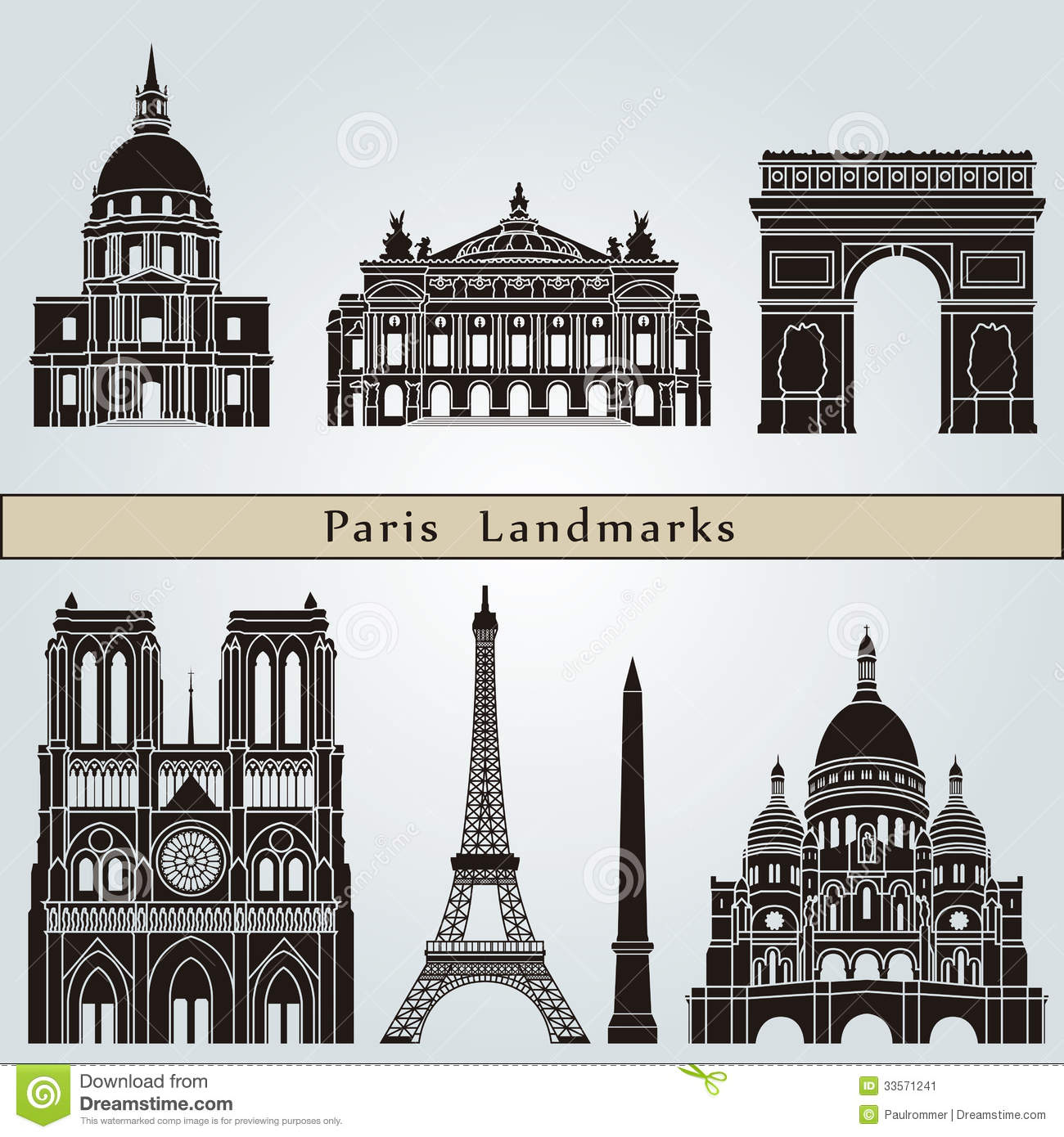 Clipart monument paris.