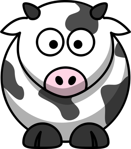 Vector image of moo cow.