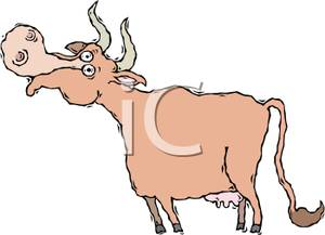 Cow Mooing Clipart.
