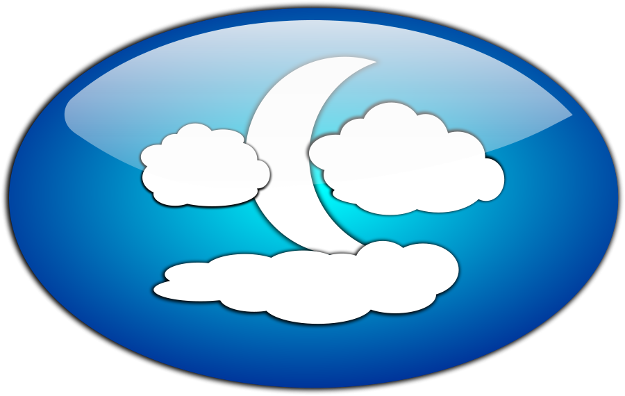 Moon And Clouds Clipart.