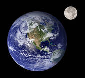 Stock Illustration of Earth & Moon k0537438.