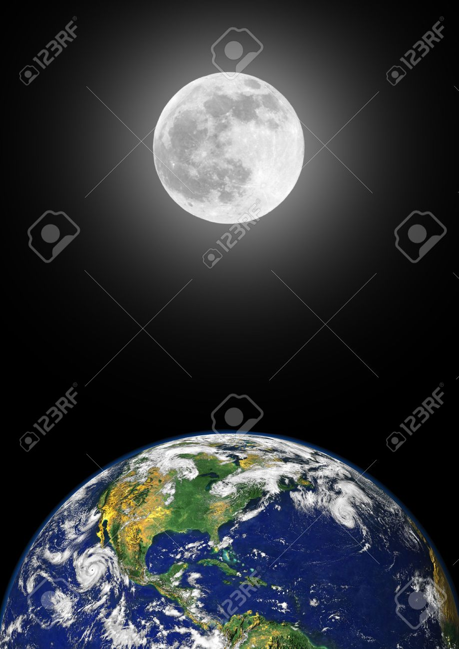 Distance From Earth to Moon Clip Art.